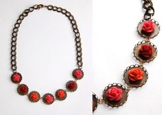 studs and pearls: diy: Floral Statement Necklace