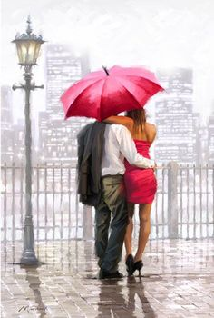 Richard Macneil 'Lovers on a Rainy Day'