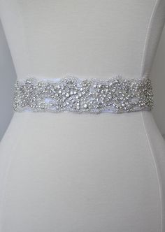 Ready to ship Wedding sash Crystal rhinestone by TangCreations, $70.00