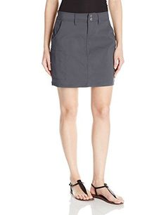 prAna Womens Halle Skort Coal Size 10 ** Click on the image for additional details. (This is an affiliate link)