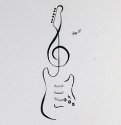 Tattoo Flash Stratocaster Guitar by AprilsInk on DeviantArt Tattoo Flash - Stratocaster Guitar by AprilsInk diy tattoo images - tattoo images drawings - tattoo Music Drawings, Pencil Art Drawings, Art Drawings Sketches, Easy Drawings, Music Tattoo Designs, Music Tattoos, Body Art Tattoos, Love Music Tattoo, Guitar Tattoo Design