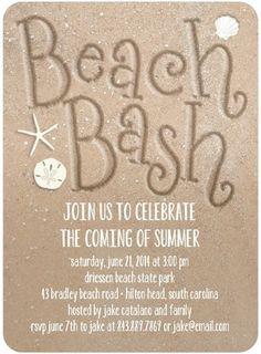 Sandy Shindig - Party Invitations - Sarah Hawkins Designs - Maple - Neutral   www.TinyPrints.com