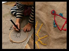 Embroider kids art!