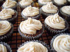 Mini vanilla chai cupcakes with cinnamon buttercream frosting
