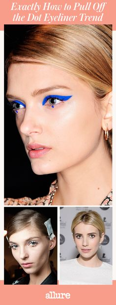 Dot eyeliner has slowly infiltrated our Instagram feeds, runways, and, most recently, celebrities' lids. When we say slowly, we mean, like, since the '60s. Back when fangirls lined up for the Beatles and women wore white platform boots, Twiggy dotted her lower lash line to emphasize her lashes.