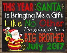 Christmas pregnancy announcement, big brother announcement, pregnancy reveal, Brother pregnancy announcement, winter, christmas chalkboard, Pregnancy Reveal, christmas Pregnancy, pregnancy announcement, pregnancy chalkboard, maternity photo prop, pregnancy photo prop, christmas chalkboard, winter announcement, announcement sign, holiday pregnancy, christmas photo prop, baby announcement, we're expecting, baby number two, baby number 2, three, big brother sign, big brother chalkboard…