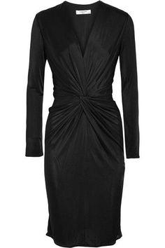 Lanvin - Twist-front Jersey Dress - Black - FR