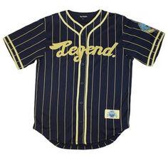 pink dolphin legend jersey | Pink Dolphin Clothing Legend Baseball Jersey Navy White s M L XL XXL ...