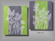 Acrylmalerei -  Acrylbilder *Crazy Flowers *  Duo #015 - ein Designerstück von SoMa-Art bei DaWanda