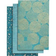 A beautiful set of journals featuring three fine paper covers in a wonderful…