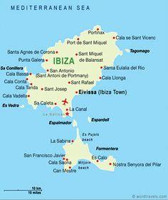 Mapa Formentera Baleary Hiszpania Spain Baleary Ibiza