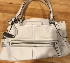 There are a few minor wear marks and stains(Mostly on the bottom) Coin Purse Wallet, Wristlet Wallet, Western Purses, Popular Handbags, White Purses, Change Purse, Franco Sarto, Luxury Handbags, Shoulder Handbags