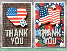 Celebrate and thank those who have served in the United States militay with these Veteran's Day Thank You Cards by @reneezwirek using the America the Beautiful collection by @pebblesinc #sponsored