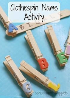Clothespin Name Learning Activity for Preschoolers Clothespin Name Activity for preschoolers; letter and name recognition and fine motor skills, too.Clothespin Name Activity for preschoolers; letter and name recognition and fine motor skills, too. Preschool Names, Preschool Learning, Early Learning, In Kindergarten, Fun Learning, Letter H Activities For Preschool, Preschool Alphabet, Alphabet Crafts, Learning Letters