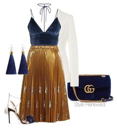 """""""Untitled #423"""" by sherristylz on Polyvore featuring Gucci, Maison Margiela, N°21 and Aquazzura"""