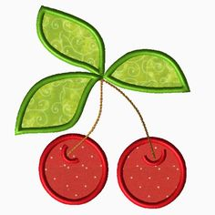Cherries Applique -Piece N Quilt- Just $1.50
