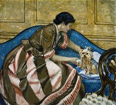 Mrs. Bartlett with a Dog, Frederic Clay Bartlett, n.d., oil on canvas, 36 1/8 x 40 in. (91.7 x 101.6 cm), Smithsonian American Art Museum, Gift of Mrs. Frederic Clay Bartlett,1980.104.2