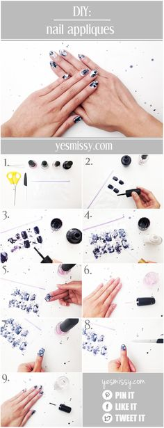 Make your own DIY nail appliques with this easy tutorial!