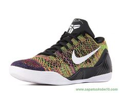 "Rainbow color 677992-995 ""Low iD HTM ZK9"" Nike Kobe 9 Elite Masculino"