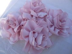 Satin fabric flowers  roses for bouquets  gifts by darlyndax on etsy.