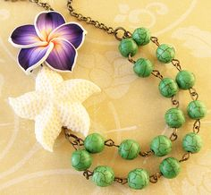 Hey, I found this really awesome Etsy listing at https://www.etsy.com/listing/172610706/starfish-jewelry-flower-necklace