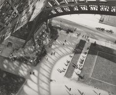 From the Eiffel Tower, Paris; André Kertész (American, born Hungary, 1894 - 1985); Paris, France; negative 1929; print 1970s; Gelatin silver print; 19.7 x 24.6 cm (7 3/4 x 9 11/16 in.); 84.XM.193.17; J. Paul Getty Museum, Los Angeles, California
