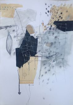 About 103 - drawing and collage on paper, 2015 | by Ellen Ribbe