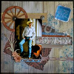 Cowboy layout by Katrina Brown