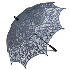 HERE GET THIS ONE - GRAY LACE UMBRELLA.  I think it's a parasol though.  BUT STILL.