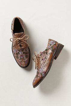 Molina Embroidered Oxfords #anthropologie --Of course I fall in love with $450 dollar shoes...