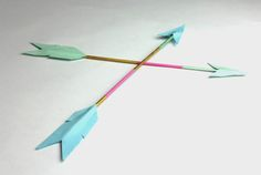 DIY Neon Arrow Decor from Meg Allan Cole for Whimseybox