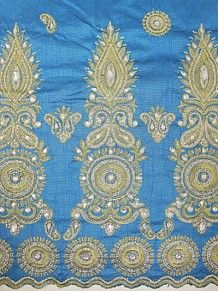 Empire Textiles African Georges - Silk George TRQ - Turquoise PRICE - £60.00