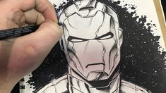 In this video, I draw and ink Iron-man and talk about the different traditional art supplies I am using. Drafting Pencil, White Gel Pen, Comic Drawing, Gel Pens, Figure Drawing, Traditional Art, Art Supplies, Line Art, Iron Man
