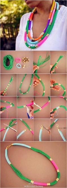 #DIY #collar + Info sobre nuestro #curso de Personal Shopper ► http://curso-personalshopper.com/msite-draggable/index.php?PinterestCursoCMO