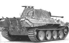 Captured Panzerkampfwagen V Panther Ausf A under test