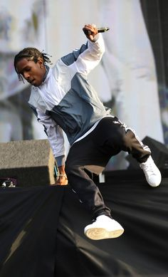 Here we have asap rocky sporting a track suit which are very fashionable for men these days. This outfit still gives you the streetwear look but with an athletic feel. It also gives the person an impression of a sporty lifestyle. Markus Stoll