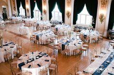Traditional Country Club Wedding Reception // Summer Wedding at Medinah Country Club in Medinah, IL // © gntphoto.com