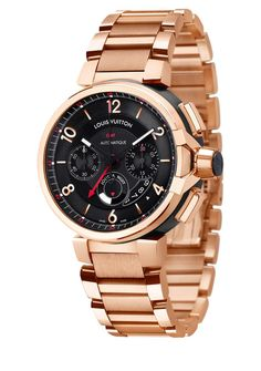 Nice Louis Vuitton Shoes Louis Vuitton Tambour eVolution Chrono GMT in Pink Gold Just when we thought Lou. Louis Vuitton Watches, Louis Vuitton Shoes, Louis Vuitton Wallet, Louis Vuitton Handbags, Cool Watches, Watches For Men, Men's Watches, Luxury Watches, Vogue Fashion