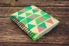 Notebook with perler bead navajo inspiration cover - Design by Pikaia on DaWanda