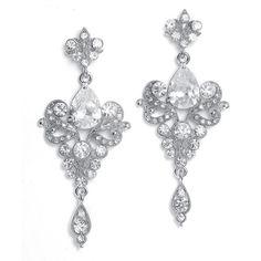 Art Nouveau Crystal Drop Chandelier Earrings