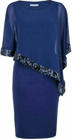 Shop for Crepe dress and sequin chiffon cape by Gina Bacconi at ShopStyle. Now f… Shop for Crepe dress and sequin chiffon cape by Gina Bacconi at ShopStyle. Now for Sold Out. Muslim Fashion, Modest Fashion, Fashion Dresses, Elegant Dresses, Nice Dresses, Formal Dresses, Crepe Dress, Chiffon Dress, Lace Chiffon