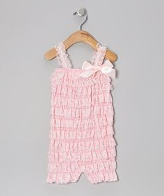 Love this Pink Lace Ruffle Romper - Toddler by Little Gem on #zulily! #zulilyfinds
