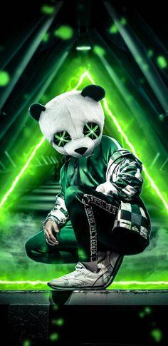 Panda Neon Green wallpaper by AmazingWalls - - Free on ZEDGE™