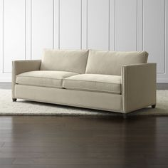 Dryden Queen Sleeper Sofa with Nailheads and Air Mattress - Crate and Barrel
