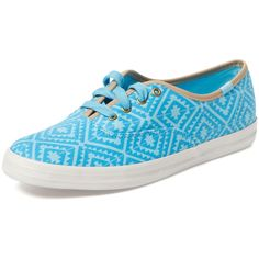Keds Champion Tribal Print Sneaker ($25) ❤ liked on Polyvore featuring shoes, sneakers, blue, laced up shoes, tribal print sneakers, tribal sneakers, synthetic shoes and lace up sneakers