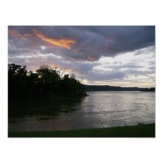 Gold Matte Poster of Kentucky Sunrise over Ohio