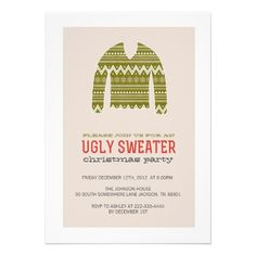 Ugly Sweater Party Christmas Party Invites