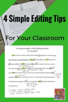 4 easy editing tips your students can do well, writing and revising in the classroom, 4th, 5th, 6th grade
