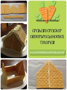 #tutorialtuesday : Graham Cracker Gingerbread Houses : How To! - Green Lunches, Green Kids