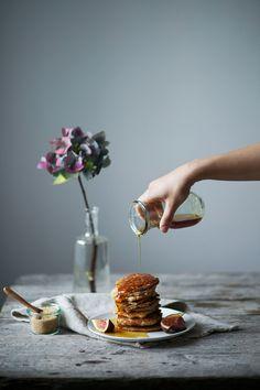 gluten-free and vegan banana pancakes.